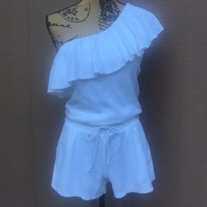 Sz M Juicy Couture White Terrycloth Romper
